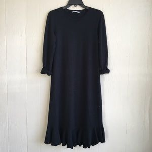 Zara Trafaluc Long Sleeve Pullover T-Shirt Dress